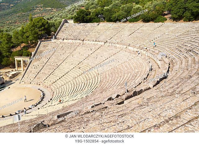 Epidauros, Ancient Amphitheatre, Peloponnese, Greece