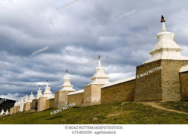 Erdene zuu khiid monastery was the first Buddhist monastery in Mongolia  it was constructed in 1586 by Abrtai Khaan but was finished 300 years later