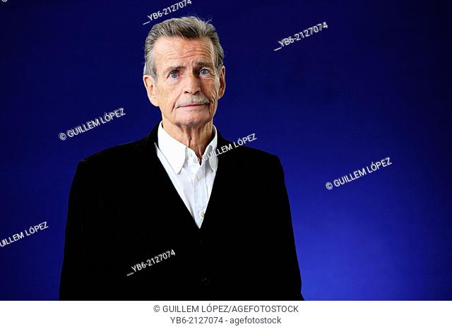 William McIlvanney, Scottish writer of novels, short stories, and poetry, attending the Edinburgh International Book Festival, Friday 16th August 2013