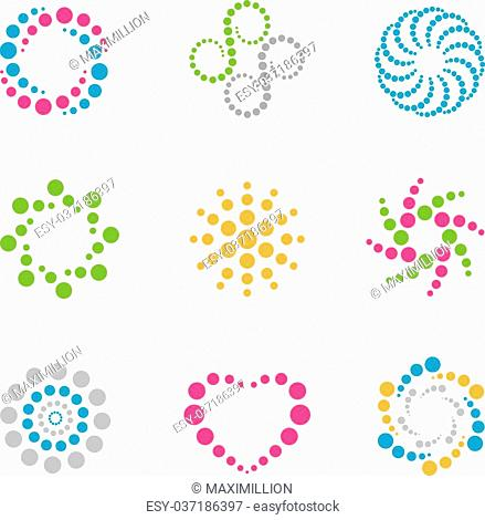 circles logos and icons