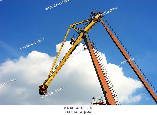 Industrial crane background hd