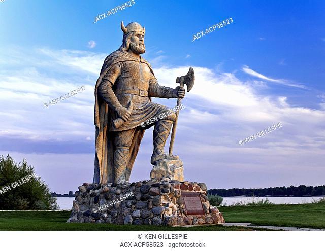 Viking statue, Gimli, Manitoba, Canada