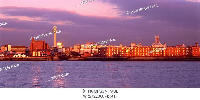 90900357, Liverpool, Merseyside, England, skyline