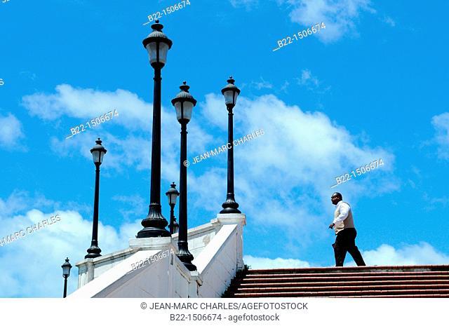Plaza de Francia, Las Bovedas, Casco Viejo, historic district and cultural gem of Panama City, Republic of Panama, Central America
