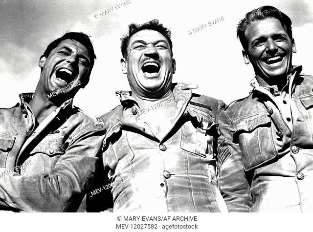 Cary Grant, Victor Mclaglen & Douglas Fairbanks Jr. Characters: Cutter, MacChesney, Ballantine Film: Gunga Din (1939) Director: George Stevens 24 January 1939