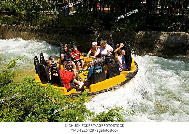 Raging Rapids Ride at Six Flags Great America in Gurnee, Illinois, USA