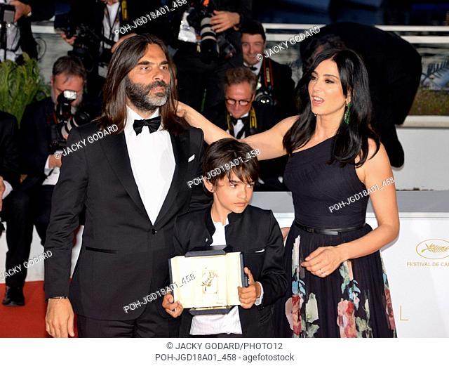 Prix du Jury Crew of the film 'Capernaum' (Cafarnaúm) : Khaled Mouzanar, Zain Al Rafeea, Nadine Labaki Prize list of the 71st Cannes Film Festival May 19