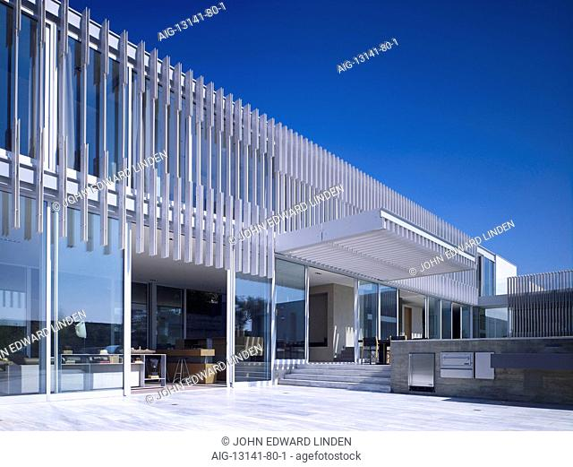 Modern detached house, West Hollywood, California
