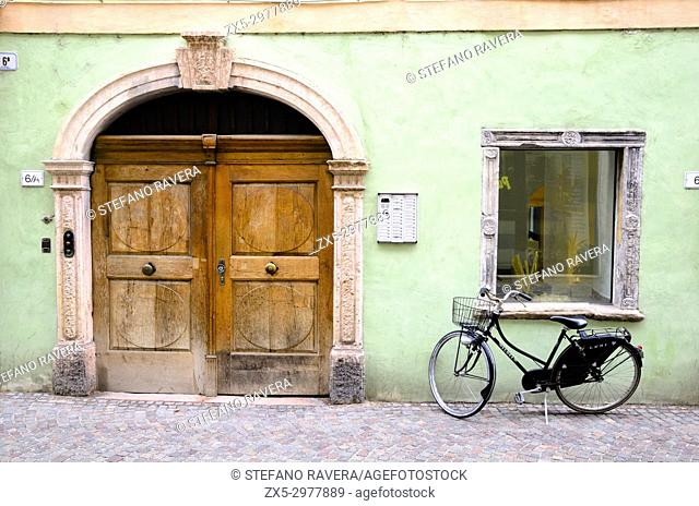Front door and bicycle - Bolzano, Italy