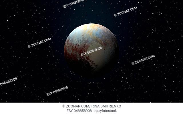 Solar System - Pluto. It is a dwarf planet in the Kuiper belt, a ring of bodies beyond Neptune. It is the largest known dwarf planet in the Solar System