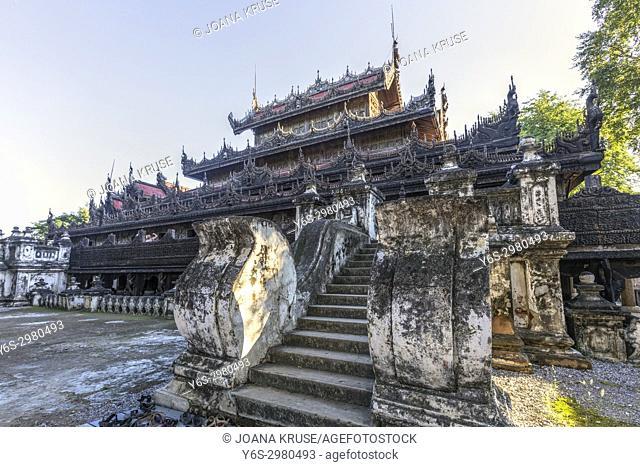 Shwenandaw Monastery, Mandalay, Myanmar, Asia
