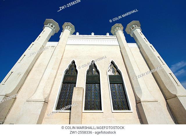 Stained glass windows, Sultan Omar Ali Saifuddien Mosque, Bandar Seri Begawan, Brunei