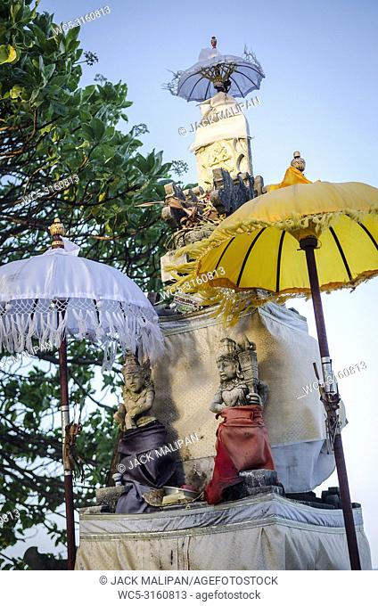 traditional balinese hindu shrine in bali indonesia
