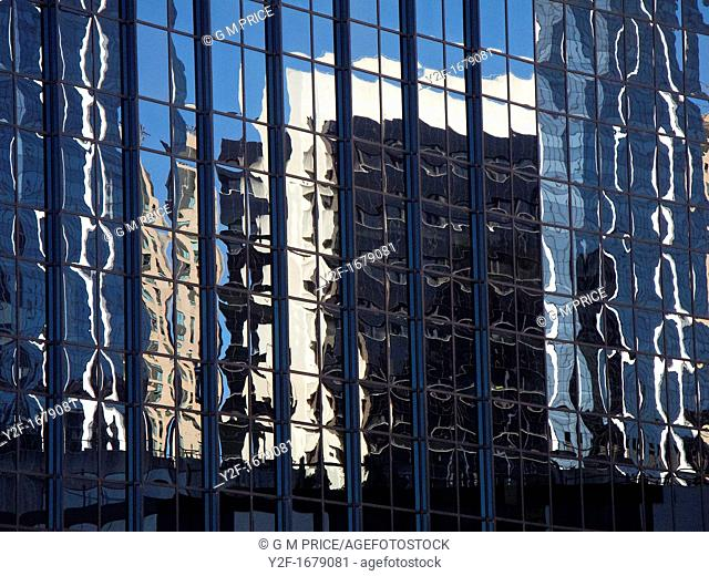 reflections of buildings in office windows, central Sydney