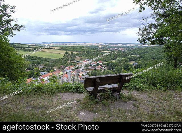 05 July 2020, Saxony-Anhalt, Thale: View from the Stecklenburg to the Harz foreland. Photo: Stephan Schulz/dpa-Zentralbild/ZB