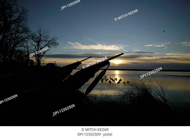 Waterfowl Hunters A Sunrise