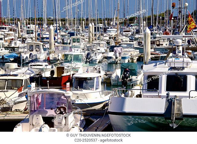 Boats, Marina, Saint Vast la Hougue harbour, Contention, 50, Normandy, France