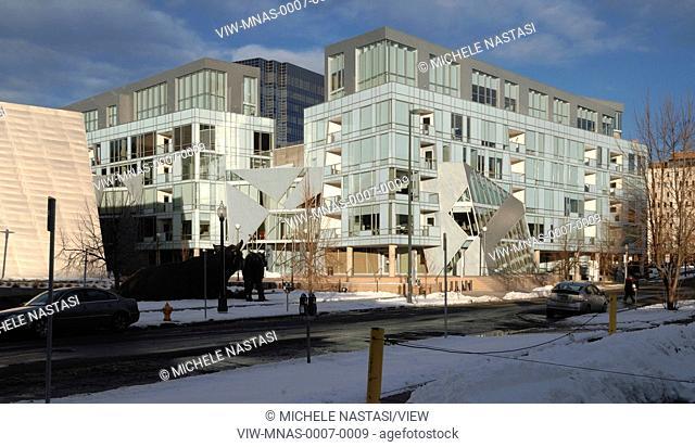 Denver Art Museum Residences, Denver, United States. Architect: Daniel Libeskind and Davis Partnership Architects, 2006. Exterior view