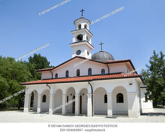 White Orthodox Church with two domes