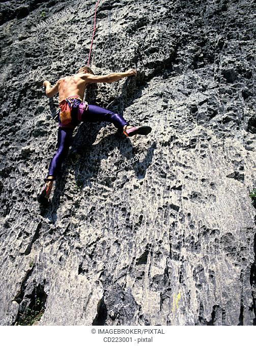 Climber, Arco near Lake Garda, Trento, Italy