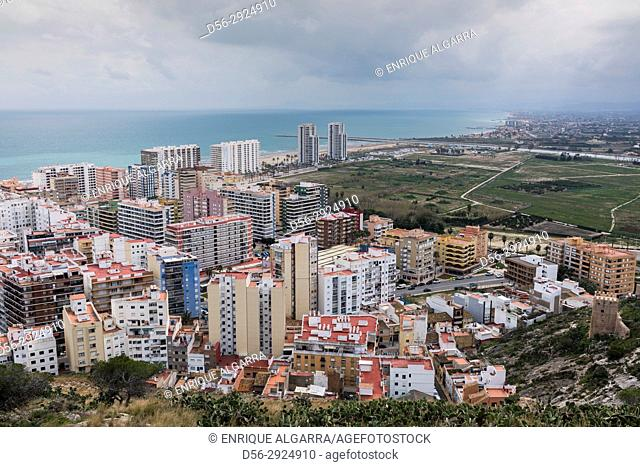 Cullera, view from the Castle, Valencia province