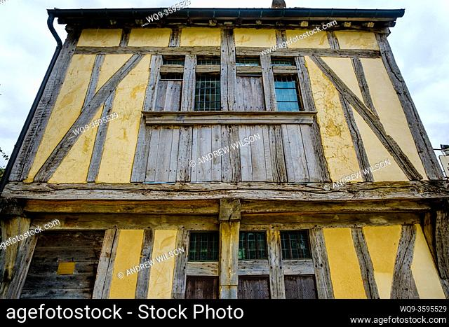 Detail of an old house near St Peter's Cathedral (La Cathédrale Saint-Pierre), Beauvais, France