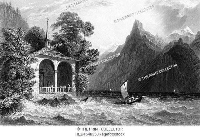 Tell's Chapel, Lake Uri, Switzerland, 1836