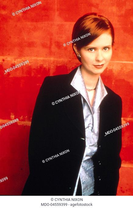 Portrait of American actress Cynthia Nixon. 1990s