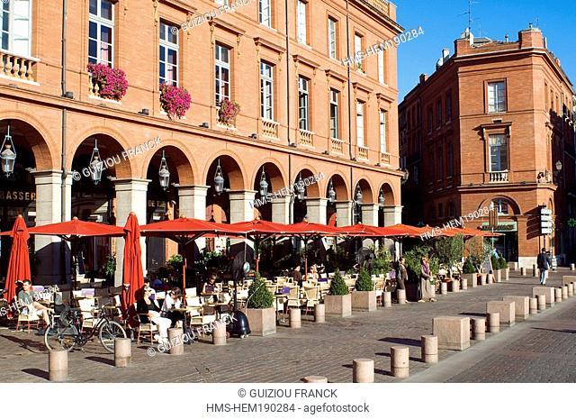 France, Haute Garonne, Toulouse, Place du Capitole