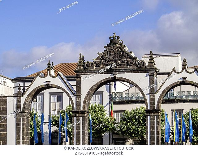 Town Gates, Ponta Delgada, Sao Miguel Island, Azores, Portugal