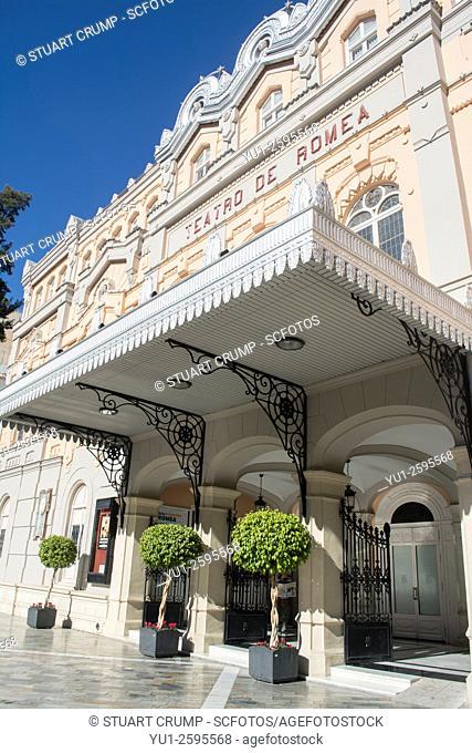 Front Facade of Teatro Romea [Murcia Theatre] in Murcia