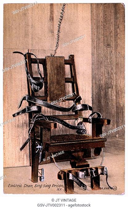 Electric Chair, Sing Sing Prison, New York, USA, Circa 1900