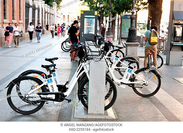 Bicimad public bike sharing system parking, Madrid