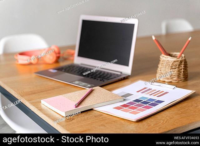 Desk in a creative office