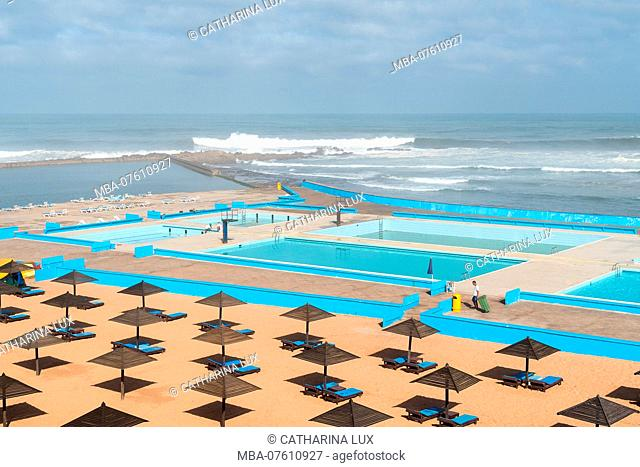 Morocco, Casablanca, Atlantic Pool