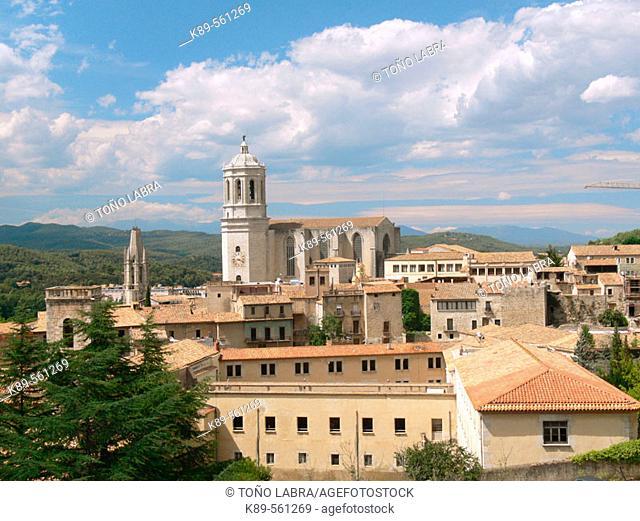 Panoramica de Girona, Cataluña, España