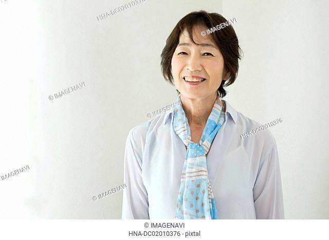 A senior woman portrait