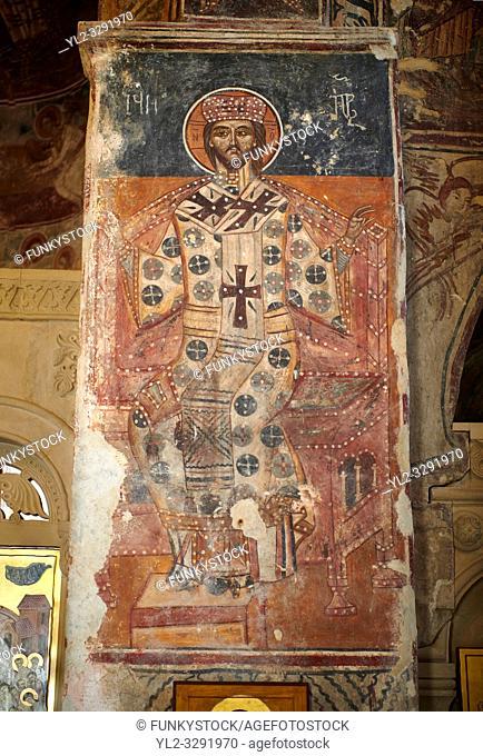 Picture & image the interior medieval frescoes of Khobi Georgian Orthodox Cathedral, 13th century, Khobi Monastery, Khobi, Georgia