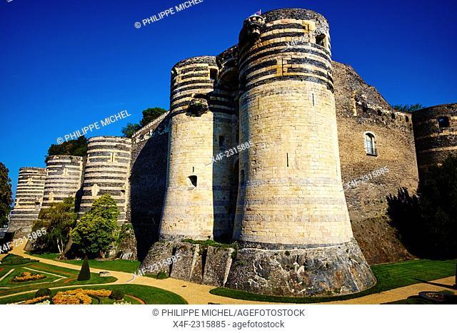 France, Maine-et-Loire, Angers, the Castle built by Saint Louis