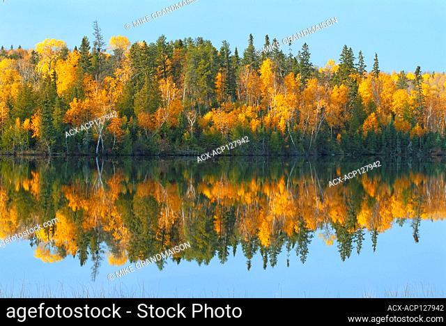 Autumn on Andy Lake Near Kenora Ontario Canada