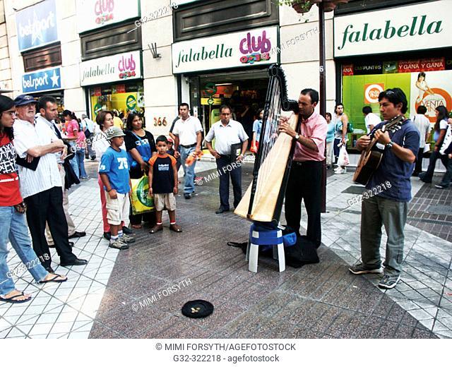 Street musicians. Santiago. Chile