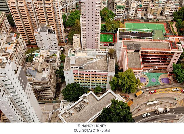 View from skyscrapers, Hong Kong, China