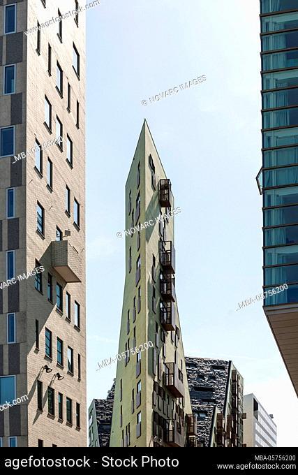 Modern architecture, Westerdok, Amsterdam, Netherlands