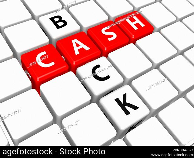 Cash back image with hi-res rendered artwork that could be used for any graphic design