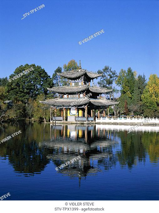 Asia, Black, China, Deyue, Dragon, Dynasty, Heritage, Holiday, Landmark, Lijiang, Ming, Pagoda, Park, Pavilion, Pool, Province