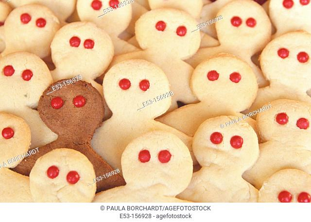 People-shaped cookies