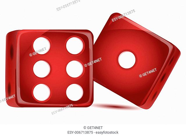 illustration of dice on white background