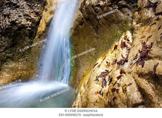 Waterfall in Falcon Dale Sokolia dolina, Slovak Paradise Slovensky Raj National Park, Slovakia, Europe