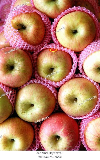 Apples. Farmers market. Manila. Philippines