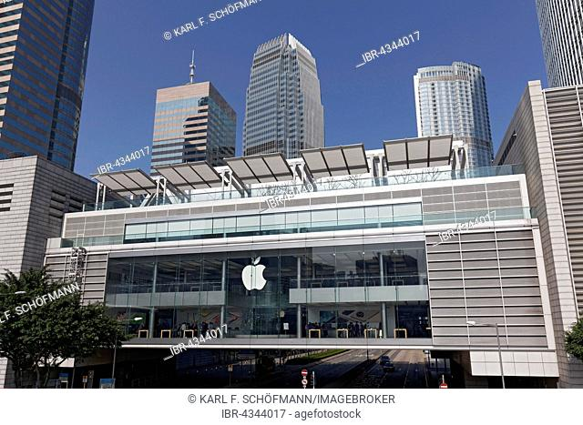 Apple Store in the IFC Mall, International Finance Centre, District Central, Hong Kong Island, Hong Kong, China